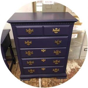 Used Dresser Purple